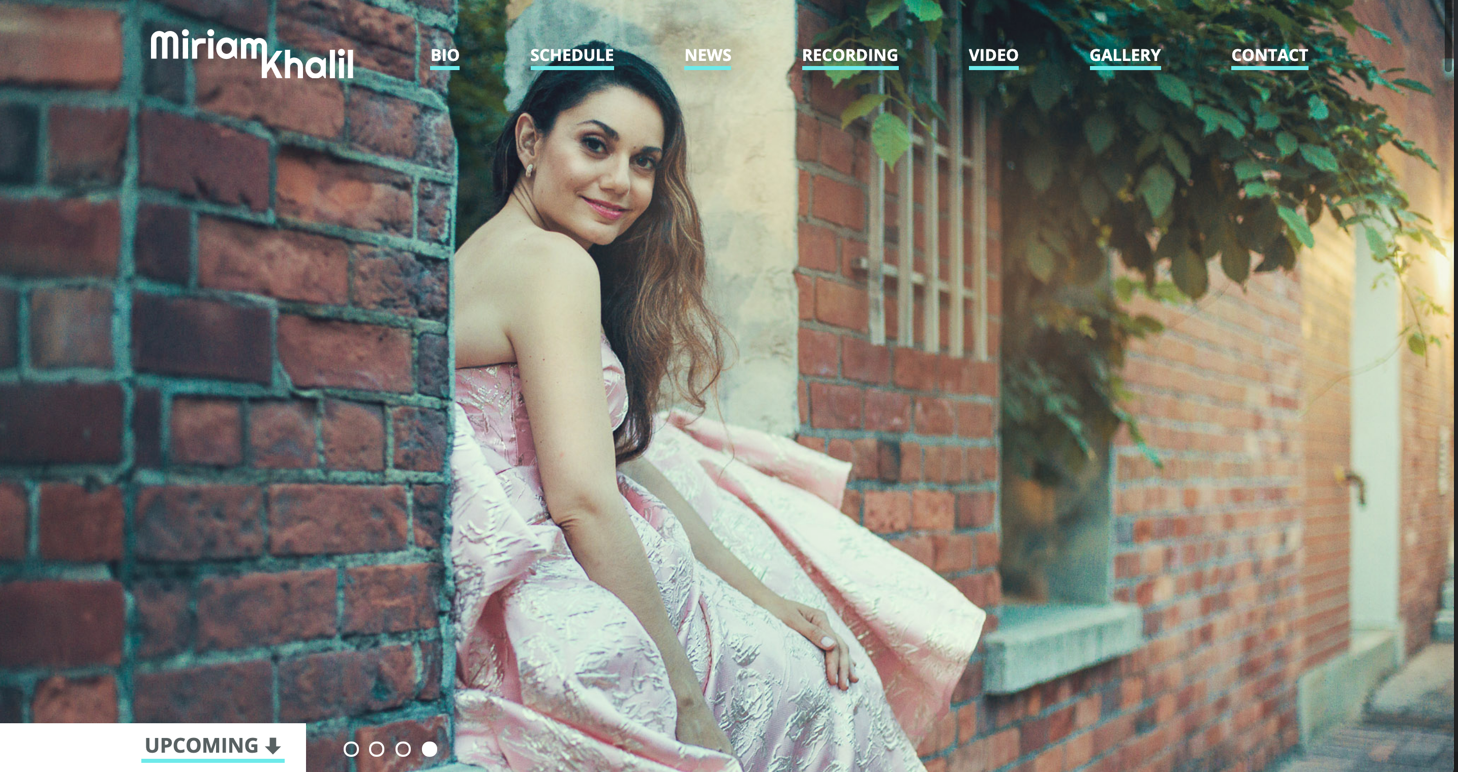 screenshot of opera singer Miriam Khalil's website